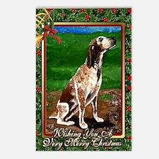 Redtick Coonhound Dog Chr Postcards (Package of 8)