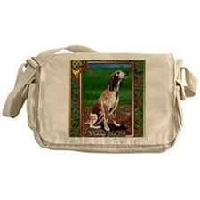 Redtick Coonhound Dog Christmas Messenger Bag