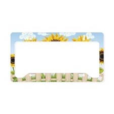 Cute Sunflowers License Plate Holder