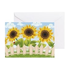 Cute Sunflowers Greeting Card