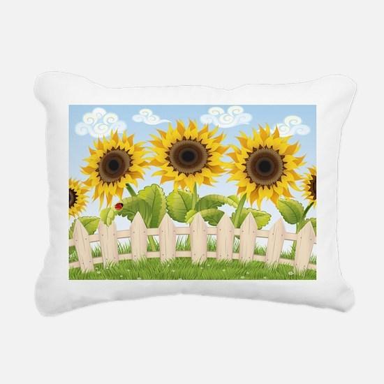 Cute Sunflowers Rectangular Canvas Pillow