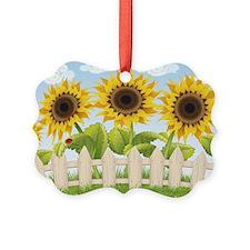 Cute Sunflowers Ornament