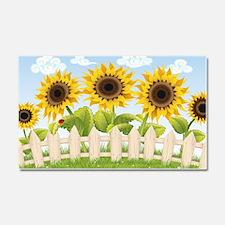 Cute Sunflowers Car Magnet 20 x 12