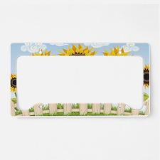 Cute Sunflowers License Plate Holder
