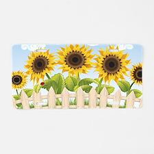 Cute Sunflowers Aluminum License Plate