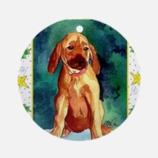 Rhodesian Ridgeback Dog Christmas Round Ornament