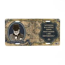Winston Churchill Historica Aluminum License Plate