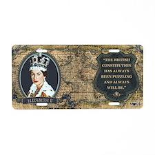 Elizabeth II Historical Aluminum License Plate