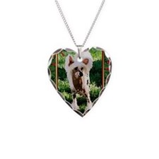 Chinese Crested Dog Christmas Necklace