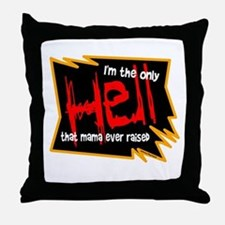 Only Hell-Johnny Paycheck Throw Pillow