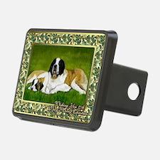 Saint Bernard Dog Christma Hitch Cover