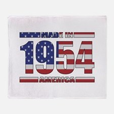 1954 Made In America Throw Blanket