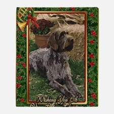German Wirehaired Pointer Dog Christ Throw Blanket