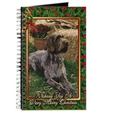 German Wirehaired Pointer Dog Christmas Journal