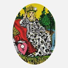 THE EMPRESS TAROT CARD Oval Ornament