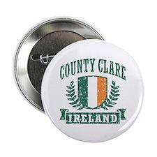 "County Clare Ireland 2.25"" Button"