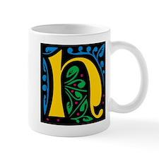 """Folk Art Monogram """"H"""" Mug"""