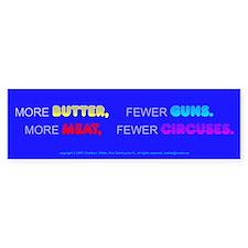 More Butter, Fewer Guns Bumper Bumper Sticker