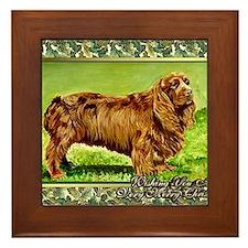 Sussex Spaniel Dog Christmas Framed Tile