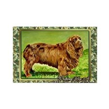 Sussex Spaniel Dog Christmas Rectangle Magnet