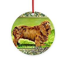 Sussex Spaniel Dog Christmas Round Ornament