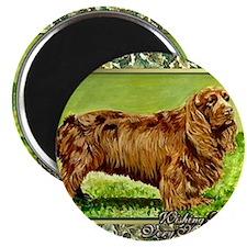 Sussex Spaniel Dog Christmas Magnet