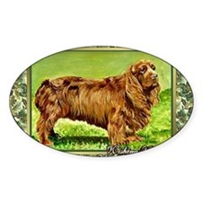 Sussex Spaniel Dog Christmas Decal