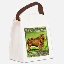 Sussex Spaniel Dog Christmas Canvas Lunch Bag