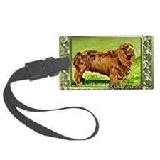 Sussex Spaniel Dog Christmas Luggage Tag