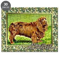 Sussex Spaniel Dog Christmas Puzzle