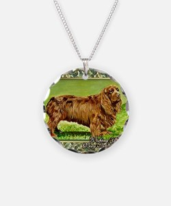Sussex Spaniel Dog Christmas Necklace