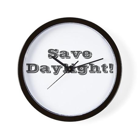 Save Daylight Wall Clock
