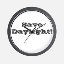 Save Daylight Wall Clock