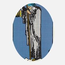 THE HERMIT TAROT CARD Oval Ornament