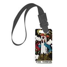 THE TOWER TAROT CARD Luggage Tag