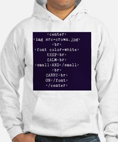 Keep Calm and HTML Hoodie
