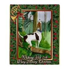 Treeing Walker Coonhound Dog Christm Throw Blanket