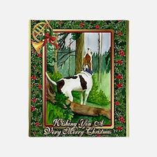 Treeing Walker Coonhound Dog Christm Throw Blanket