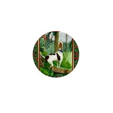 Treeing Walker Coonhound Dog Christmas Mini Button