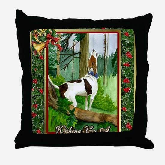 Treeing Walker Coonhound Dog Christma Throw Pillow