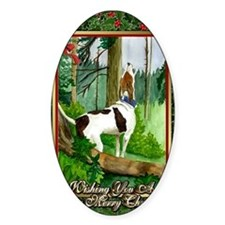 Treeing Walker Coonhound Dog Christ Decal
