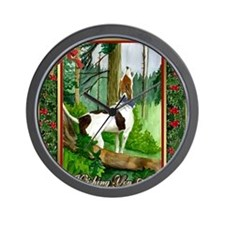 Treeing Walker Coonhound Dog Christmas Wall Clock