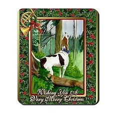 Treeing Walker Coonhound Dog Christmas Mousepad