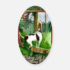 Treeing Walker Coonhound Dog Chris Oval Car Magnet