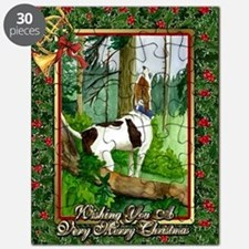 Treeing Walker Coonhound Dog Christmas Puzzle
