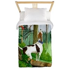 Treeing Walker Coonhound Dog Christmas Twin Duvet