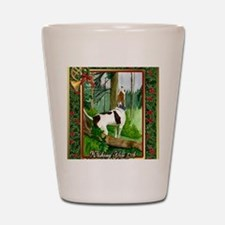 Treeing Walker Coonhound Dog Christmas Shot Glass