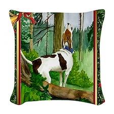 Treeing Walker Coonhound Dog C Woven Throw Pillow