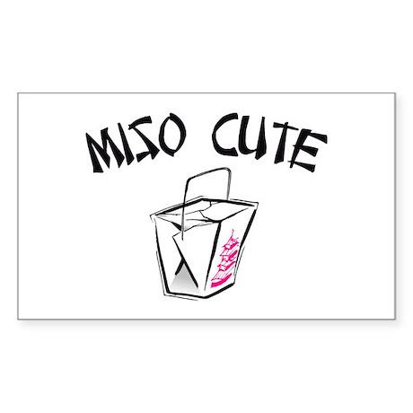 Miso Cute Rectangle Sticker