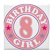 Birthday 8 Tile Coaster